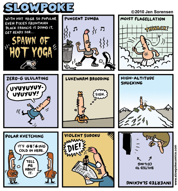 "This Week's Cartoon: ""Spawn of Hot Yoga"""