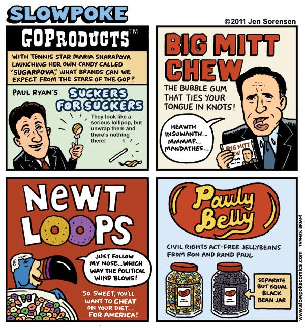"This Week's Cartoon: ""GOProducts"""