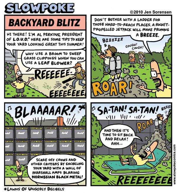 "This Week's Cartoon: ""Backyard Blitz"""