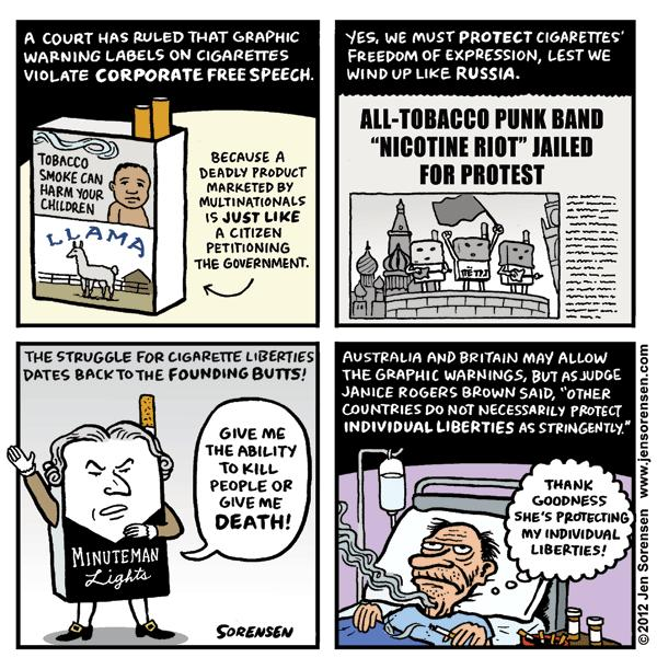 This Week's Cartoon: Free Speech for Cigarettes