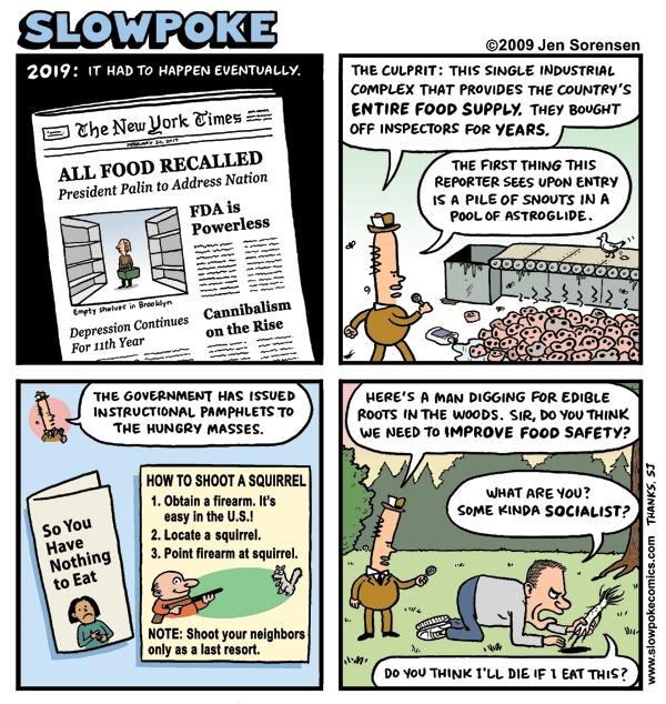 "This Week's Cartoon: ""All Food Recalled"""