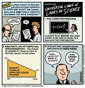 This Week's Cartoon: The Universal Laws of Ladies in Science