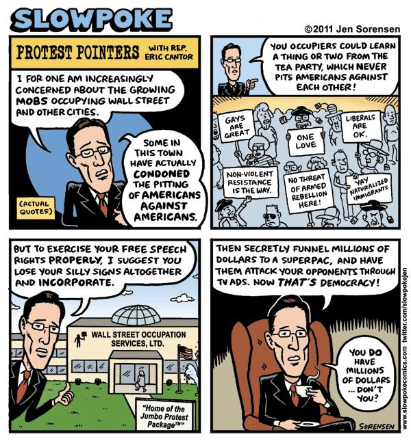 "This Week's Cartoon: ""Protest Pointers With Eric Cantor"""