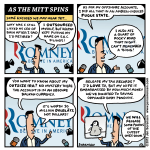 "This week's cartoon: ""As the Mitt Spins"""