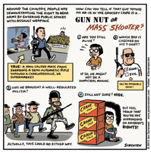 Gun Nut or Mass Shooter?