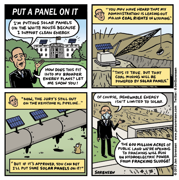 Put A Panel On It Cartoon On White House Solar Panels