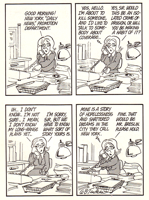 Doonesbury Son of Sam cartoon by Garry Trudeau