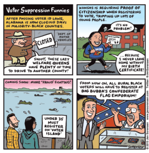 Voter Suppression Funnies