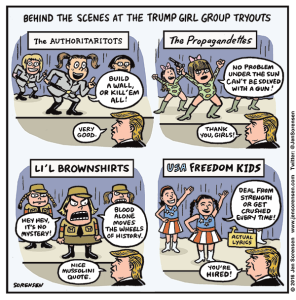 Behind the scenes at the Trump girl group tryouts