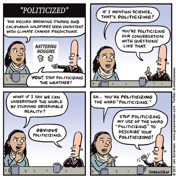 "The ""politicization"" game"