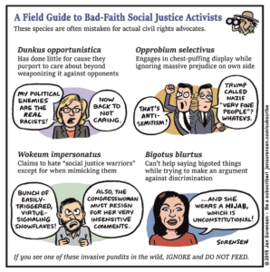 A Field Guide to Bad-Faith Social Justice Activists