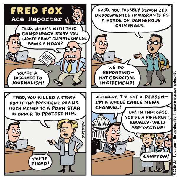 If Fox News Was a Single Reporter