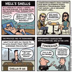 Cartoon: Hell's shells